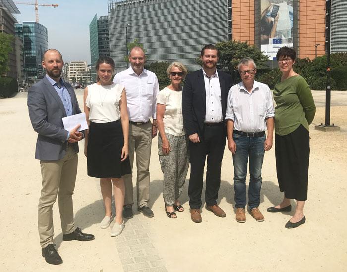 Internationella utskottet på studiebesök i Bryssel.